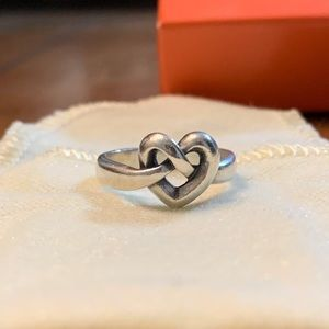 James Avery Heart Knot Ring and Necklace